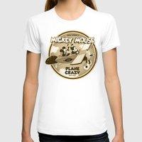 plane T-shirts featuring Plane Crazy by Szoki