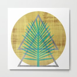 Tree to the Moon Metal Print