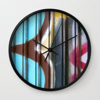 graffiti Wall Clocks featuring Graffiti by BASEMENT WEST