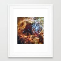 outer space Framed Art Prints featuring Outer Space by Rab Sizzle