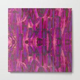Purple Cactus Metal Print