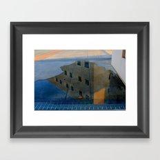 Puddle Reflection  Framed Art Print