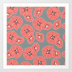Retro bloom 002 Art Print