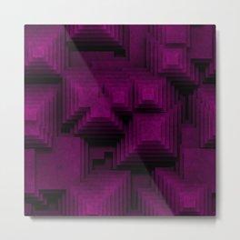 Purple Square Metal Print