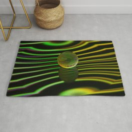 Floating glass ball abstract. Rug