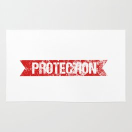 Little Sister Protection Squad Big Bro Distressed Rug