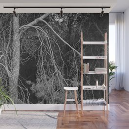 Under The Moonlight.... Into The Woods. Wall Mural