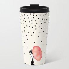Polka Rain Travel Mug