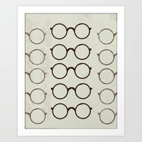 glasses Art Prints featuring (Glasses) by Mr & Mrs Quirynen