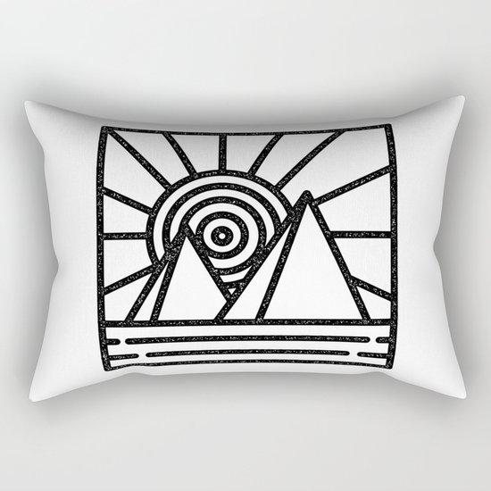 minmal mountain Rectangular Pillow
