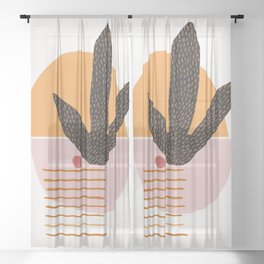 Abstract Desert Landscape Sheer Curtain