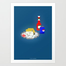Chicken Leg + White Rice + A Can of Pepsi + Ketchup Art Print