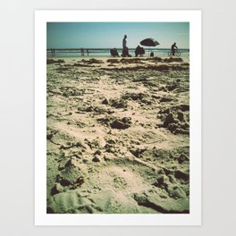 Beach Snooze Art Print