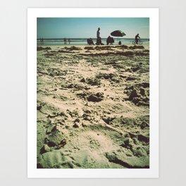 Beach Snooze Art Print
