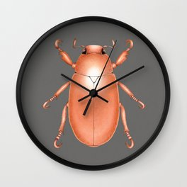 Copper Beetle Wall Clock