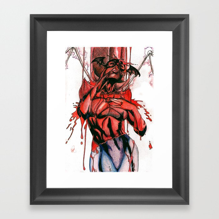 Bleez Coloured Framed Art Print