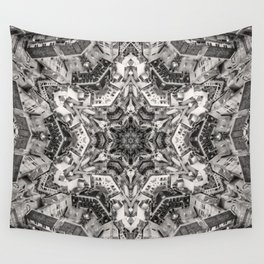 Structural Sepia City Wall Tapestry