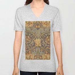 """William Morris """"Honeysuckle and tulip"""" 5. Unisex V-Neck"""