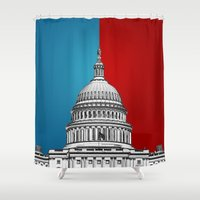 politics Shower Curtains featuring American Politics by politics
