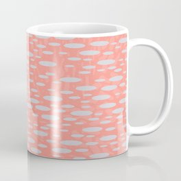 Abstract Pebble Textured Spots Pattern Coral Blue Steel Gray Coffee Mug