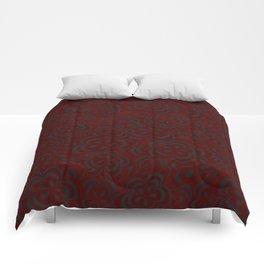 Red Floral Velvet Comforters