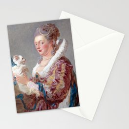 Jean Honoré Fragonard A Woman with a Dog Stationery Cards