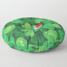 Happy lucky snail Floor Pillow