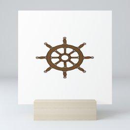 My Boat My Rules Boating Design Captain T-shirt Design Wave Water Swim Sailboats Sailing Sail Mini Art Print