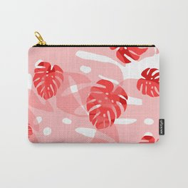 red monstera Carry-All Pouch