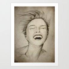 laughing girl Art Print