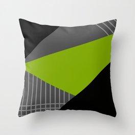 Memphis gray green . Throw Pillow
