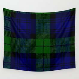 Scottish Campbell Tartan Pattern-Black Watch #2 Wall Tapestry