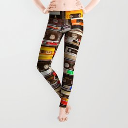 Something Nostalgic V - Music - Global Language #decor #society6 #buyart Leggings