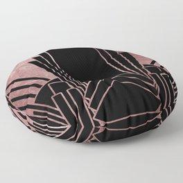 Art deco design - deep rose Floor Pillow