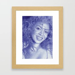 Knowles-Carter Framed Art Print