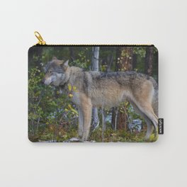 Wolf takes a moment of zen in Jasper National Park Carry-All Pouch