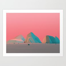Geometric Landscape VH07 Art Print