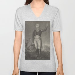 Vintage George Washington Portrait (1854) Unisex V-Neck
