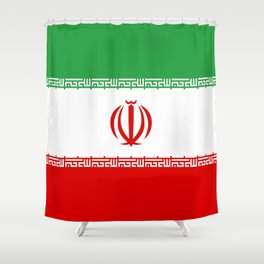National flag of the Islamic Republic of Iran - Authentic version Shower Curtain