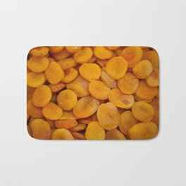 Dried cut apricot fruits Bath Mat