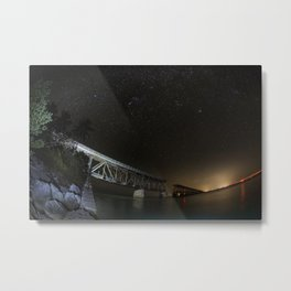 Key West Bridge Metal Print