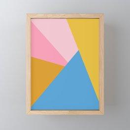 Cute Colorful Diagonal Color Blocking Framed Mini Art Print