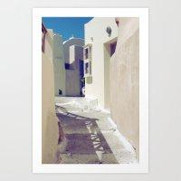 Santorini Walkway II Art Print