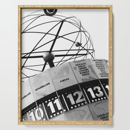 World Clock Berlin BW Serving Tray