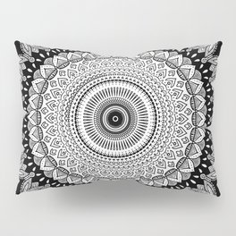 Black and White Mandala Two Pillow Sham