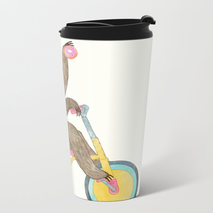 birthday sloth Metal Travel Mug