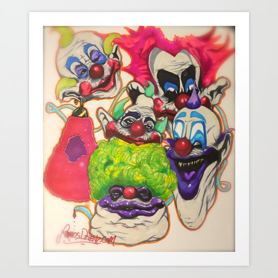 Killer Klown Gang Art Print