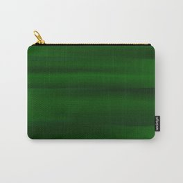 Emerald Green and Black Abstract Carry-All Pouch