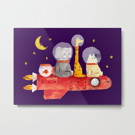 Let's All Go To Mars Metal Print