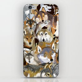 Wolves o´clock (Time to Wolf) iPhone Skin